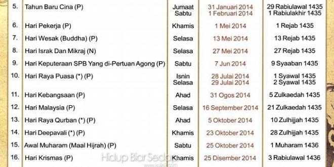 Hari Pelepasan Am Negeri Sembilan 2014