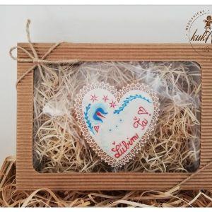 """Srdce """"Ľúbim ťa"""" v darčekovom balení"""