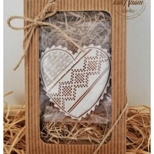 Medovníkové srdce v krabičke