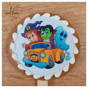 Halloween strašidlá na aute