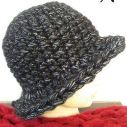 Puf kapa - Crni šešir