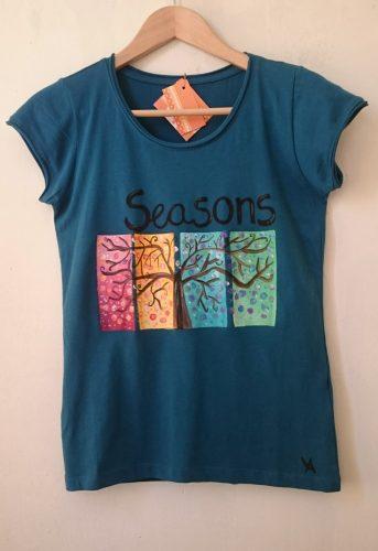Ručno oslikana majica Godisnje doba