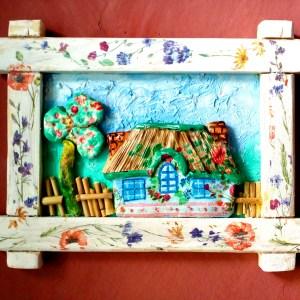 Kućica u drvenom ramu