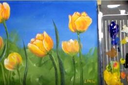 akrilno slikanje cvijeca