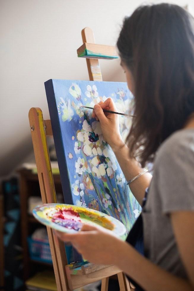 Рисуване с акрилни бои