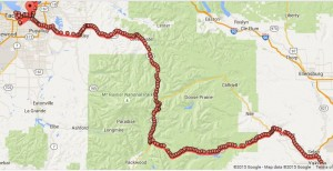 My route through Mt. Rainer National Park.