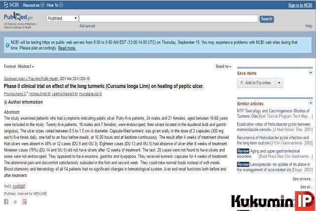 Bằng chứng lâm sàng của curcumin phytosome trong điều trị viêm loét dạ dày tá tràng