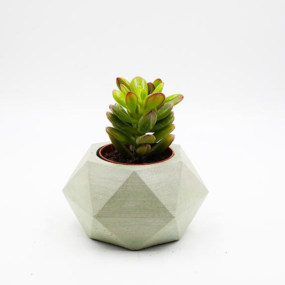 Planter Pot Lissabon Av. João Crisóstomo white, hexagone shape handmade in Berlin by Kula.