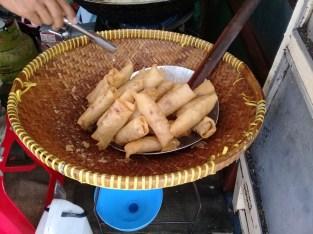Fried lumpia, ready to serve