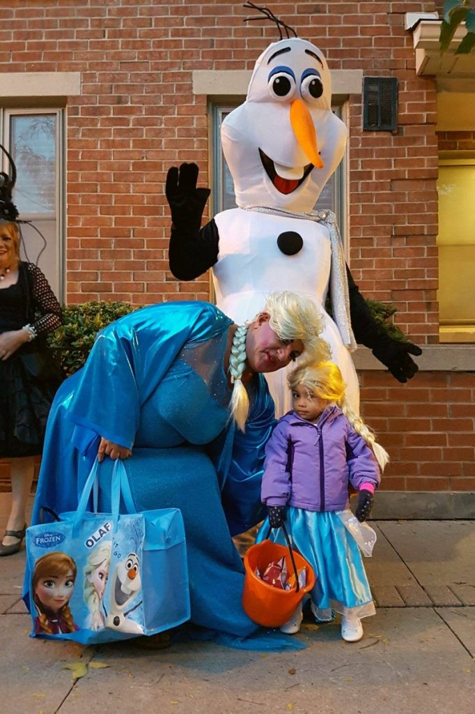 Kaite with Olaf and Elsa