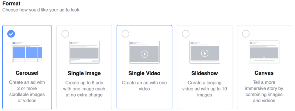 choose your ad format