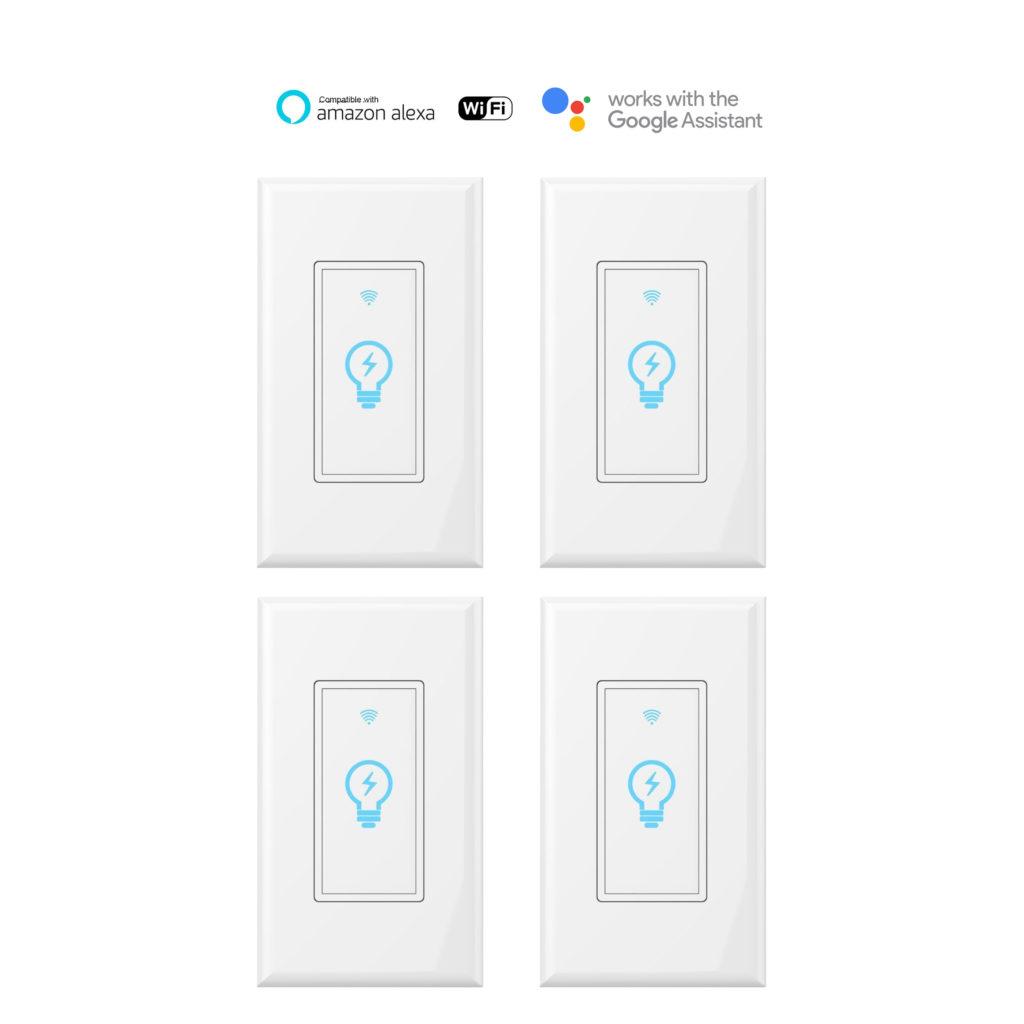 Smart Wifi Wall Light Switch K38 4pack