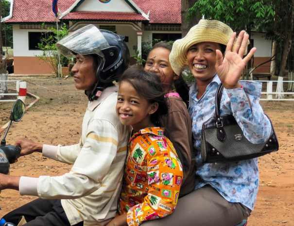 Cambodians on a Motorbike