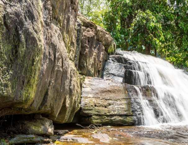Small Waterfall inside Phnom Kulen - Siem Reap, Cambodia