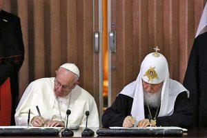 подписание документов в Гаване еретиками