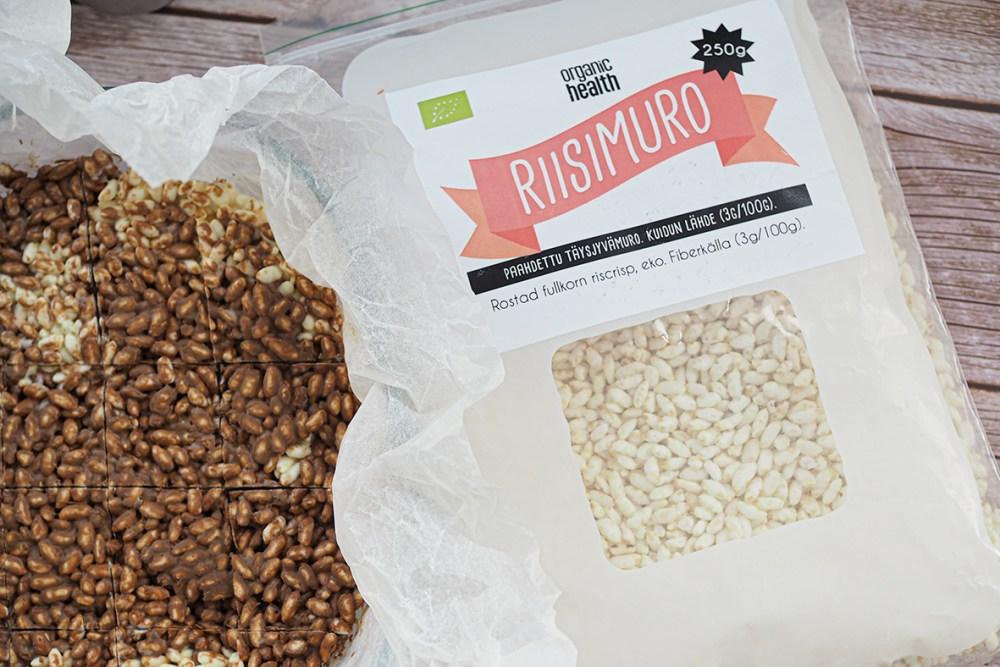 Riisisuklaa syntyy paahdetusta luomuriisistä