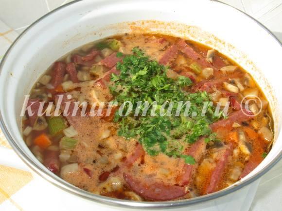 добавить в суп зелень
