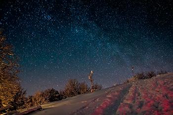 Éjszakai látvány, Nagy Hideg hegy