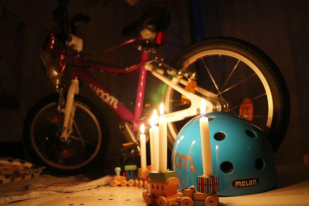 Kullakeks - fünfter Geburtstag - Woom Bike