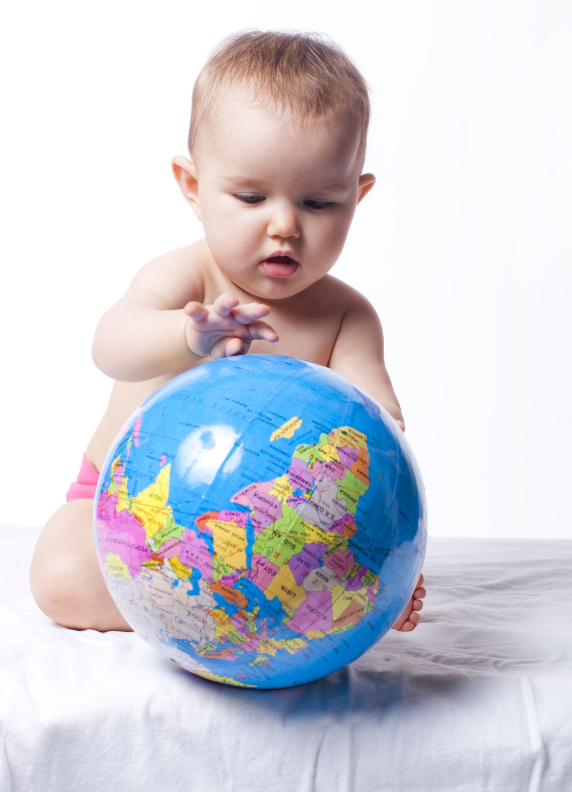 baby respecting the planet