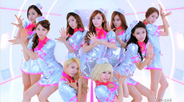 girls generation flower power flight attendant