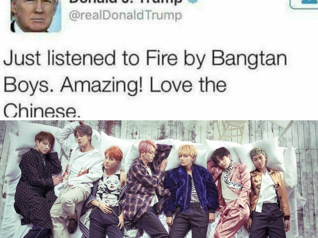 Trump BTS