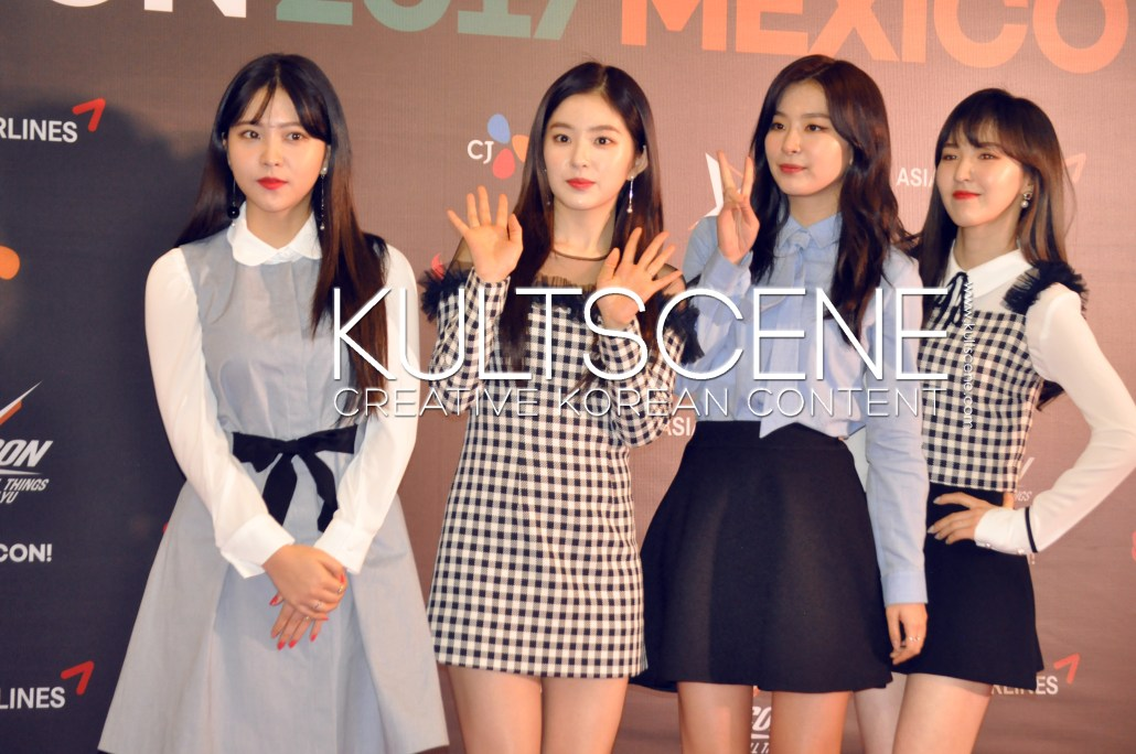 kcon mexico 2017 red velvet wendy seulgi irene yerin red carpet kpop 17 mx