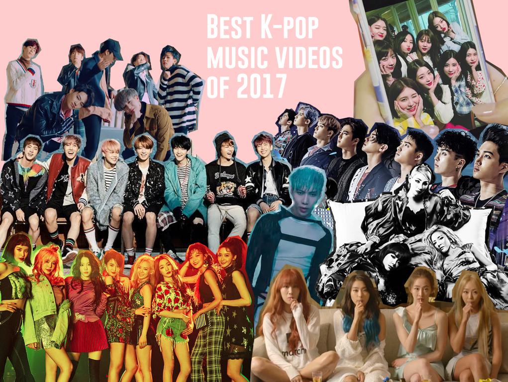 best k pop music videos of 2017 top k pop mvs of 2017