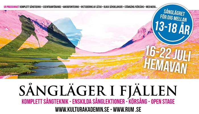 Sångläger i fjällen 2018 – Anmäl dig nu!