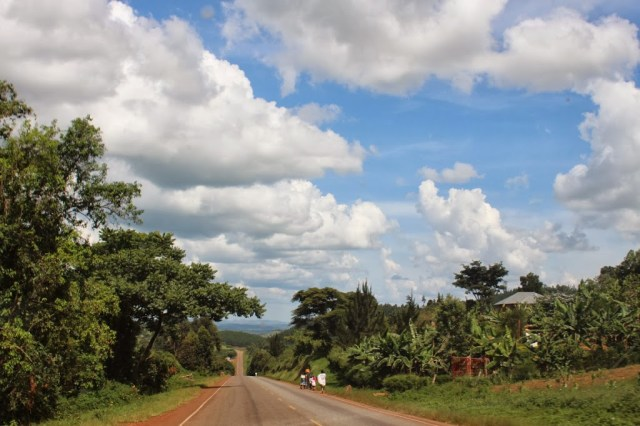 A road leading out of Kasese Uganda