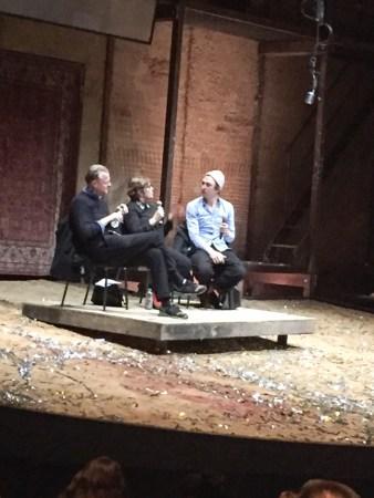 """Thomas Ostermeier und Lars Eidinger stellen sich nach dem """"Richard III.""""-Gastspiel der Schaubühne Berlin am Londoner Barbican Centre im Februar 2017 den Fragen des Publikums"""