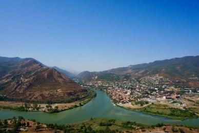 Ausblick auf die Stadt Mzcheta