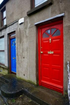 Bunte Türen in Howth