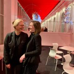 Marissa Biebl, die Vorsitzende der Freunde des Residenztheaters, und ich nach unserer Vorstands- und Kuratoriumssitzung Anfang Dezember 2019