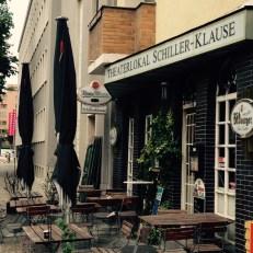 Theaterlokal Schiller-Klause hinter dem Schillertheater.