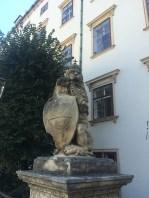 Löwe vor dem Schweizer Tor