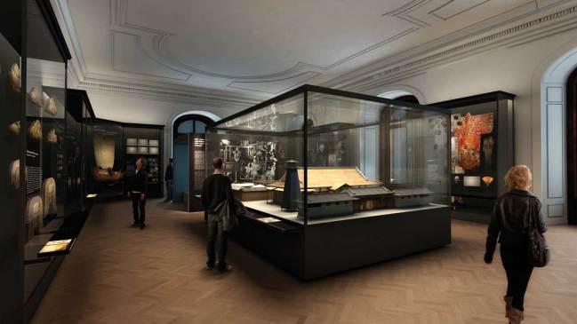 """Weltmuseum: Ausstellungssaal """"1873 – Japan kommt nach Europa"""" © ARGE Ralph Appelbaum Associates/Hoskins Architects"""