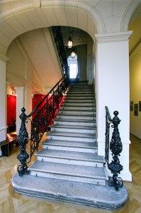 Im Inneren der bekannten Universität für Musik und darstellende Kunst © Anna Blau