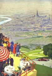 Blick auf Wien von der Höhenstraße, 1936 Hermann Kosel © Wien Museum