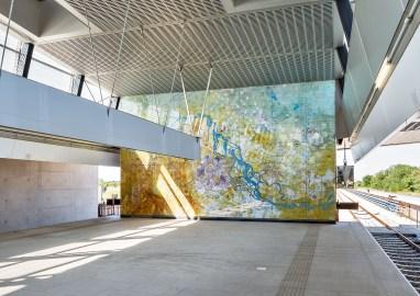 "Stephan Huber, ""Aspern Affairs"", Installation U-Bahn-Station Aspern Nord, Wien © Iris Ranzinger, KÖR GmbH"