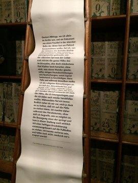 Tagebucheintraf Franz Grillparzer vom 7. April 1832 über einen Sturz von der Leiter