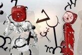 Parallel Musing +3D-Augmented-Reality-Installation, 2018 Folienelemente, App, Tablets,Konzept: Tina Muliar App-Programmierung, Sound-Design: Bobby Rajesh Malhotra, Tina Muliar © Tina Muliar