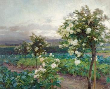 OLGA WISINGER-FLORIAN, Sommerabend (Es ist die Zeit der Rosenpracht), 1896 © Leopold Privatsammlung Foto: Leopold Museum, Wien/Manfred Thumberger