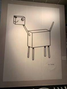 Thomas Mock aka Keramik hinterließ einen überdimensionalen Mr--Horse-Sticker