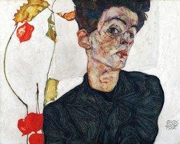 Egon Schiele Selbstbildnis mit Lampionfrüchten © Leopold Museum, Wien, Inv. 454