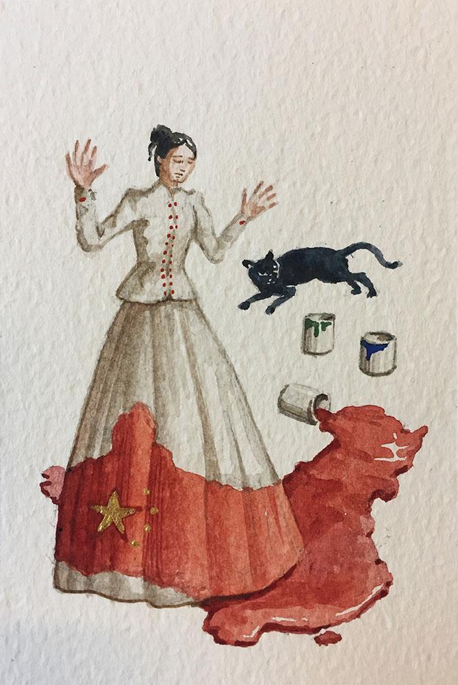 09. 3. 20 Dilagante (cm 15x10 acquerello su carta copia)