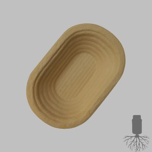 Gärkörbchen aus Holzschliff