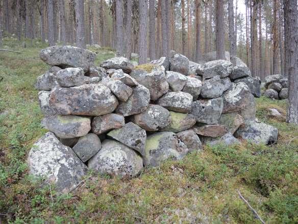 Ett av stenupplagen på Kartiberget © Norrbottens museum