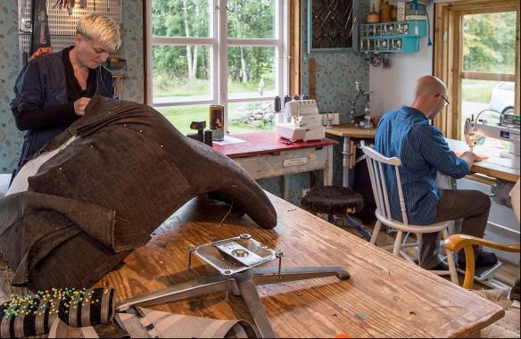 Ett av företagen som dokumenterades i Eco Local in a Global World var Udda med flit som drivs av Terese och Anders Östling. Foto: Daryoush Tahmasebi  ©