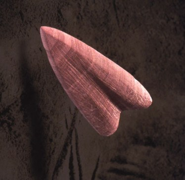 Pilspets i röd skiffer ©Norrbottens museum. Foto Staffan Nygren